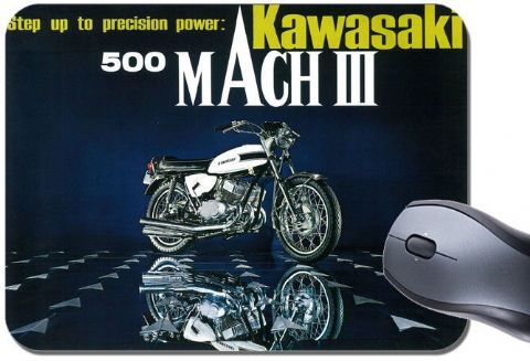 Vintage 500 MKIII Motorbike Advert Mouse Mat. Motorcycle High Quality Mouse Pad